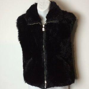 Bogner reversible faux fur vest size 8